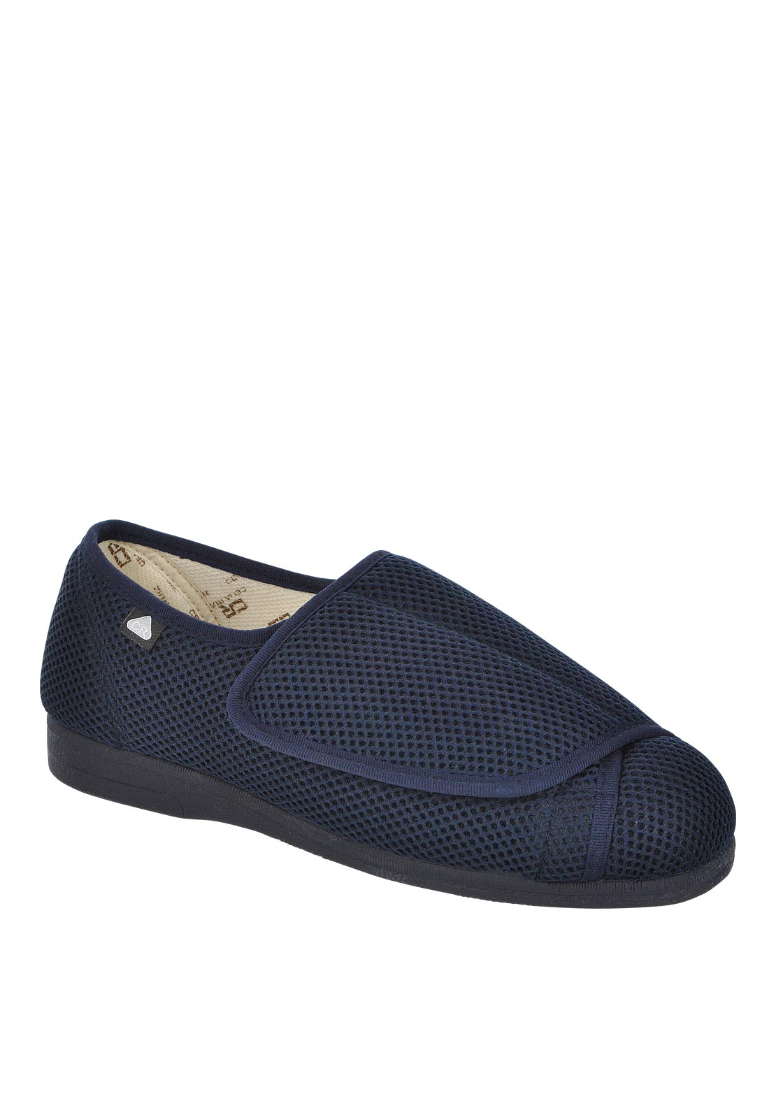 Celia Ruiz Mens Velcro Bedroom Slipper, Navy