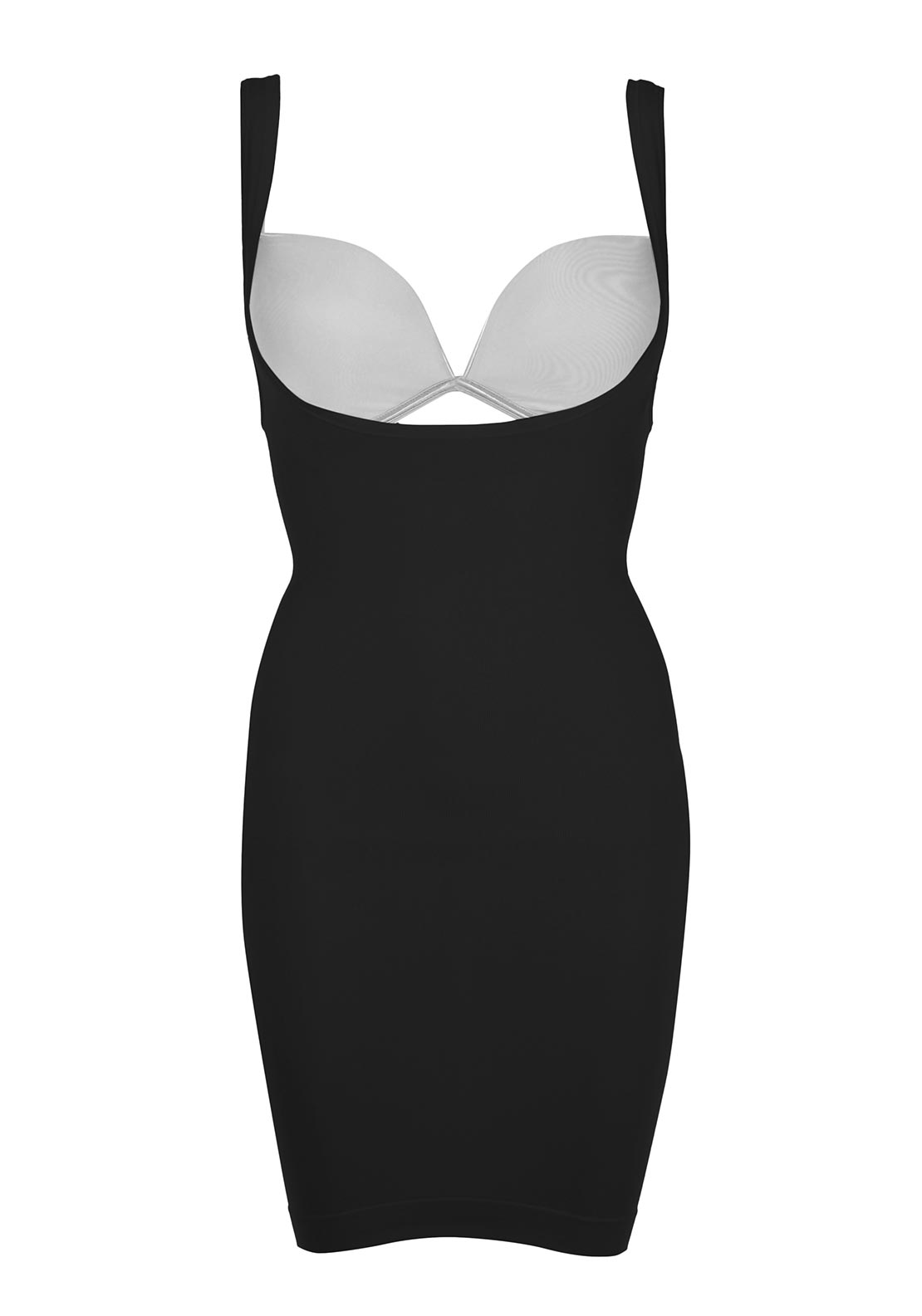 Bodyfit Under Bust Control Dress, Black