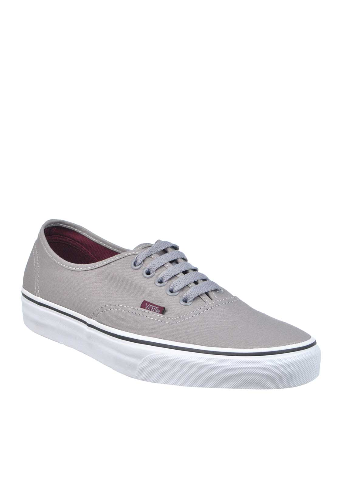 Vans Mens Authentic Lace Up Trainers, Grey