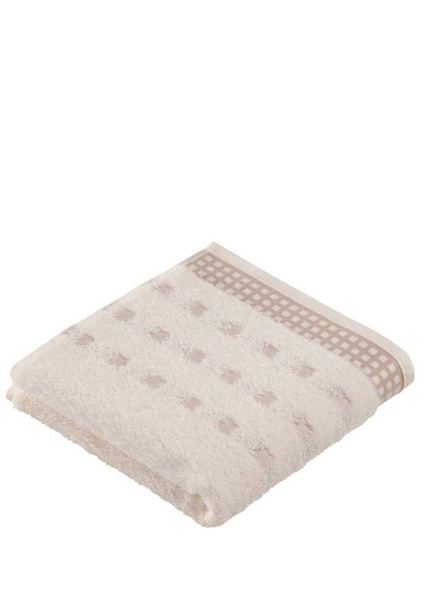 Vossen Country Style Towel Range, Ivory/ Tibet, Face Cloth