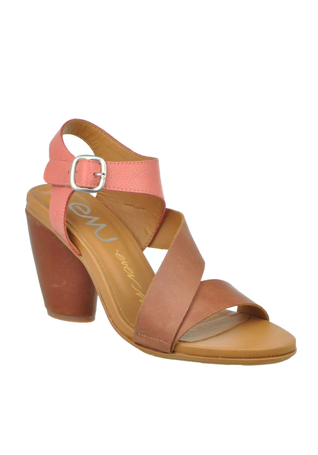 EMU Australia Dawn Leather Coloured Strap Heeled Sandals, Hazelnut