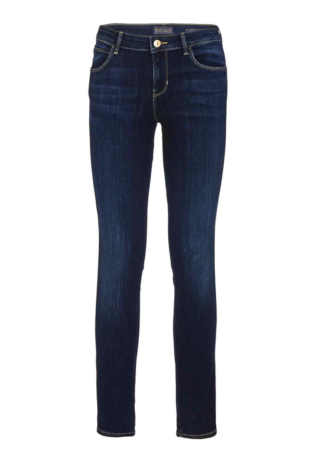 Guess Womens Curve X Skinny Jeans, Dark Denim
