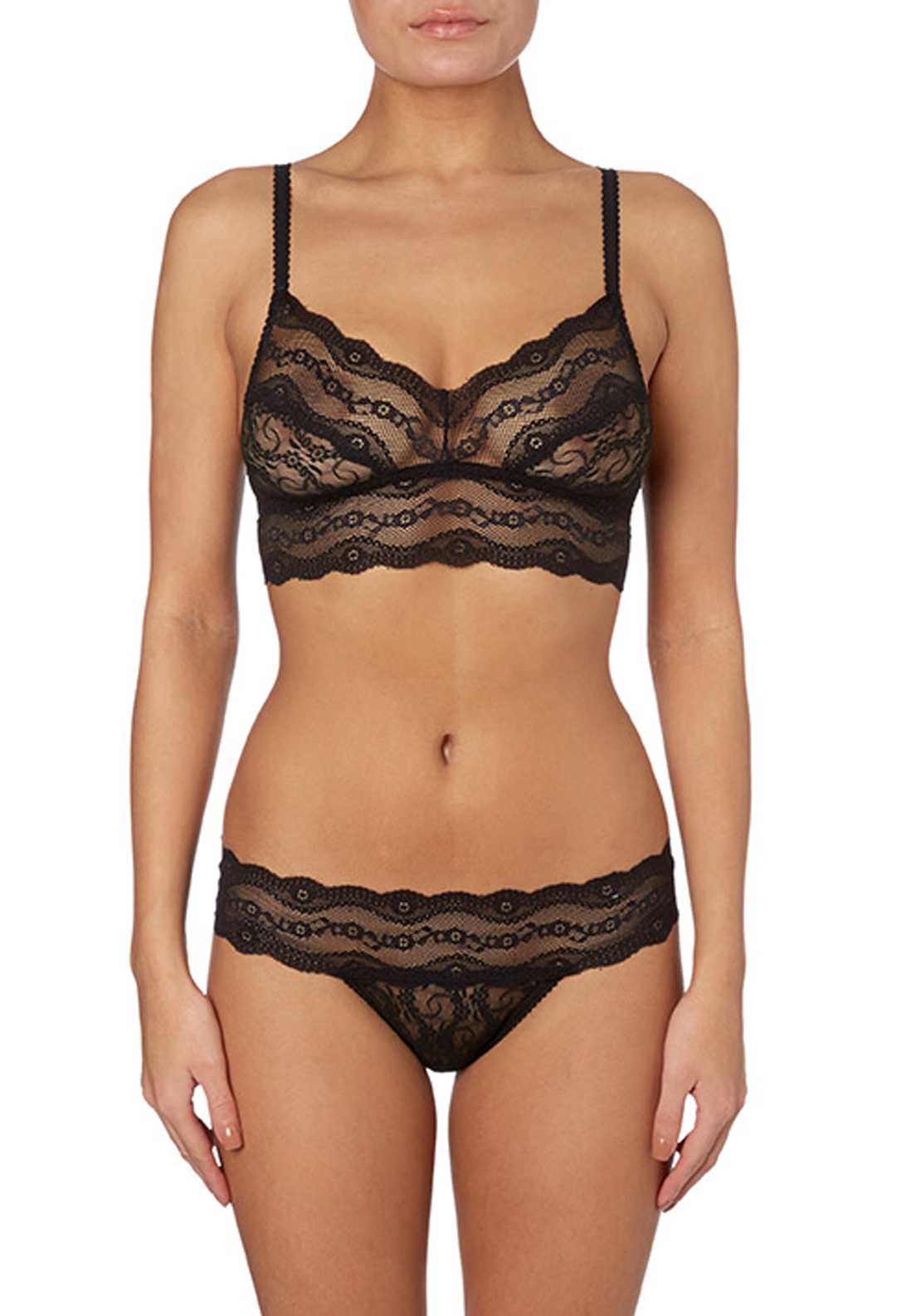 b.temptd Lace Kiss Bralette, Black