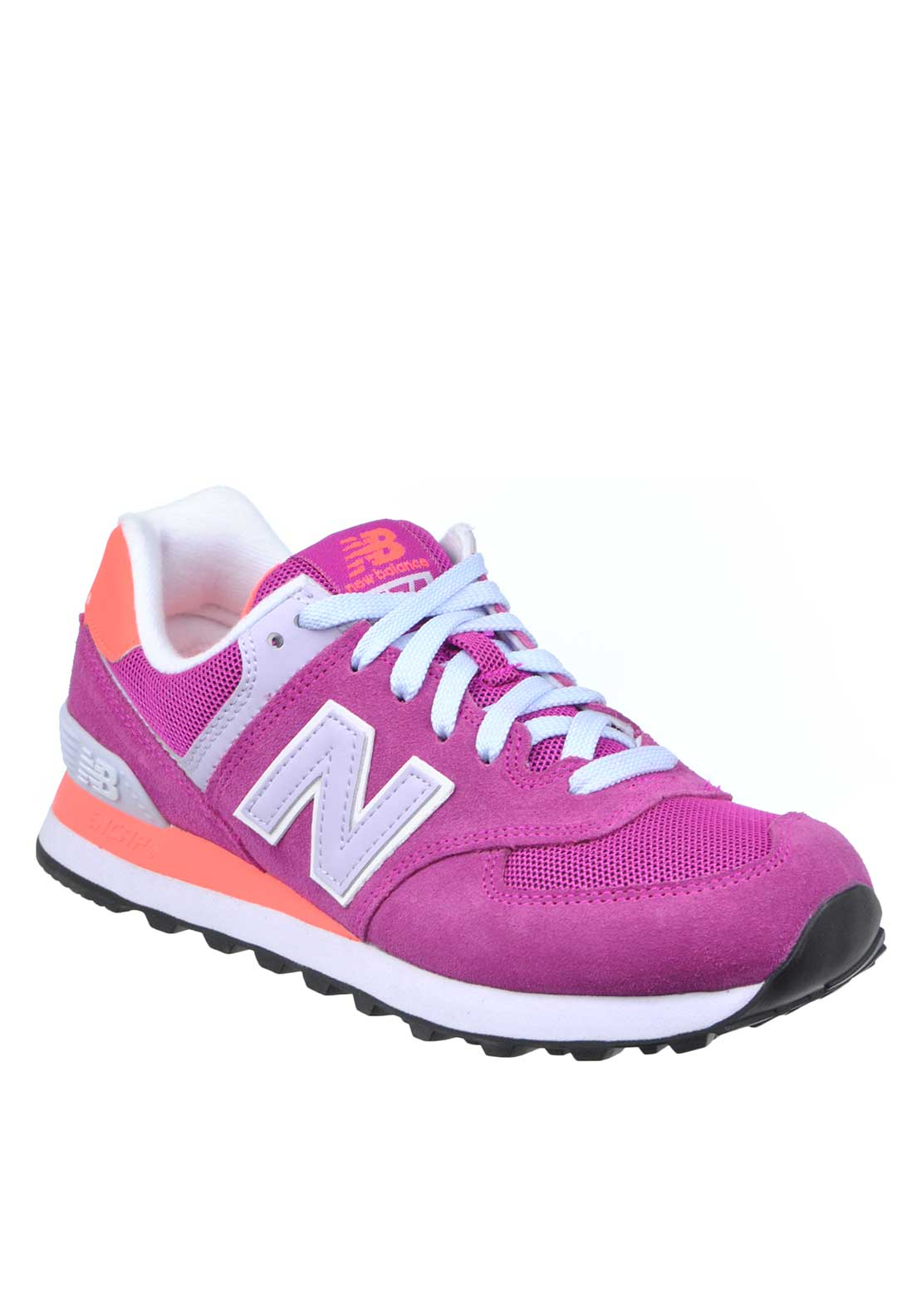 New Balance Womens 574 Fashion Runner, Purple