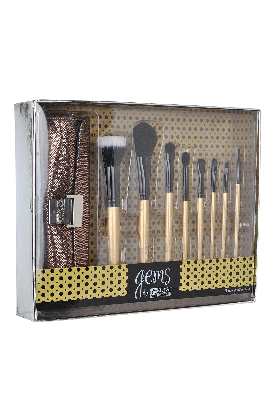 Gems by Royal and Langnickel Beauty Collection Brush Set, Gold