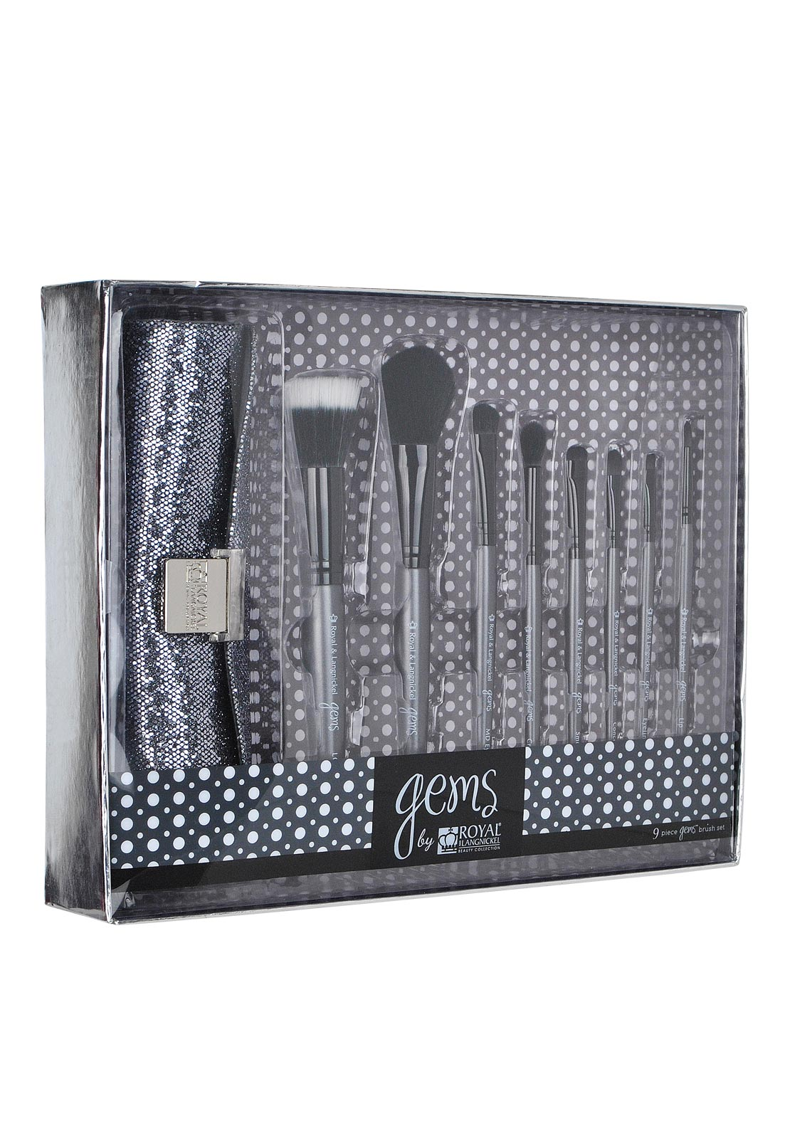 Gems by Royal and Langnickel Beauty Collection Brush Set, Black