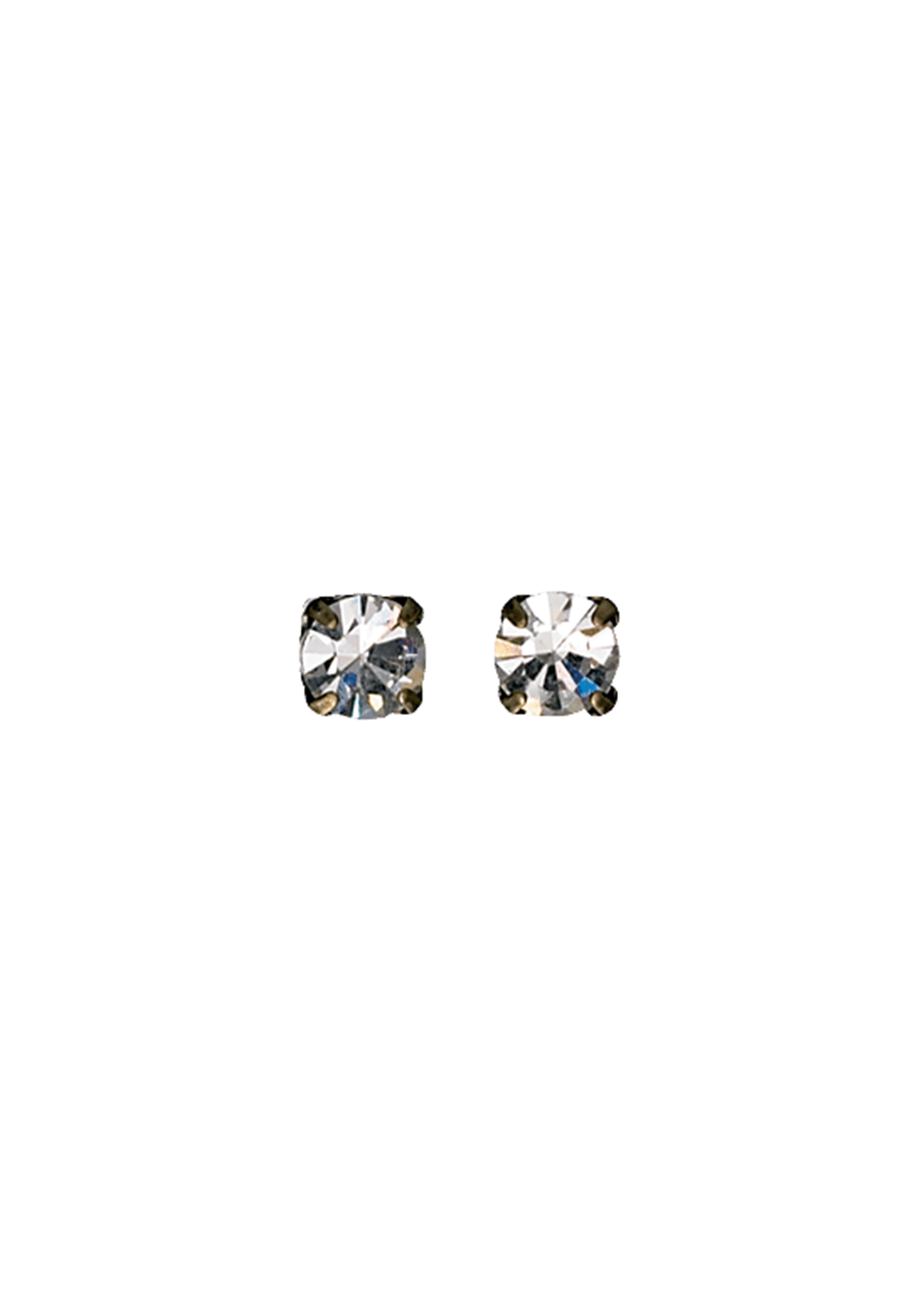Pilgrim Women's Classic Crystal Stud Earrings, Gold