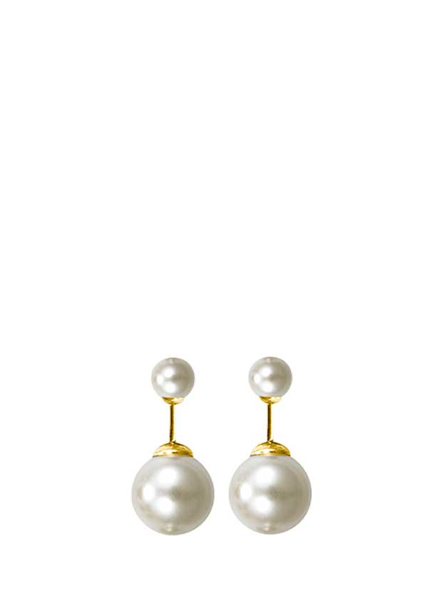 Pilgrim Womens Pearl Bauble Earrings, Ivory Pearl