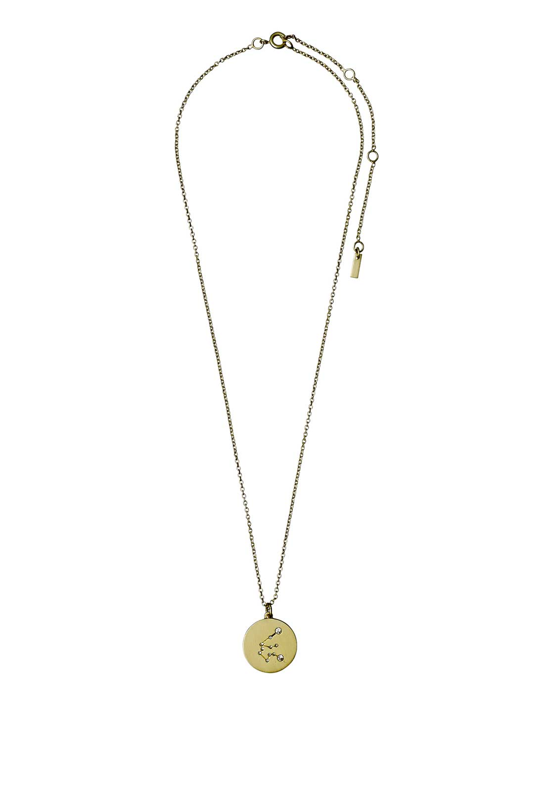 Pilgrim Aquarius Zodiac Sign Necklace, Gold