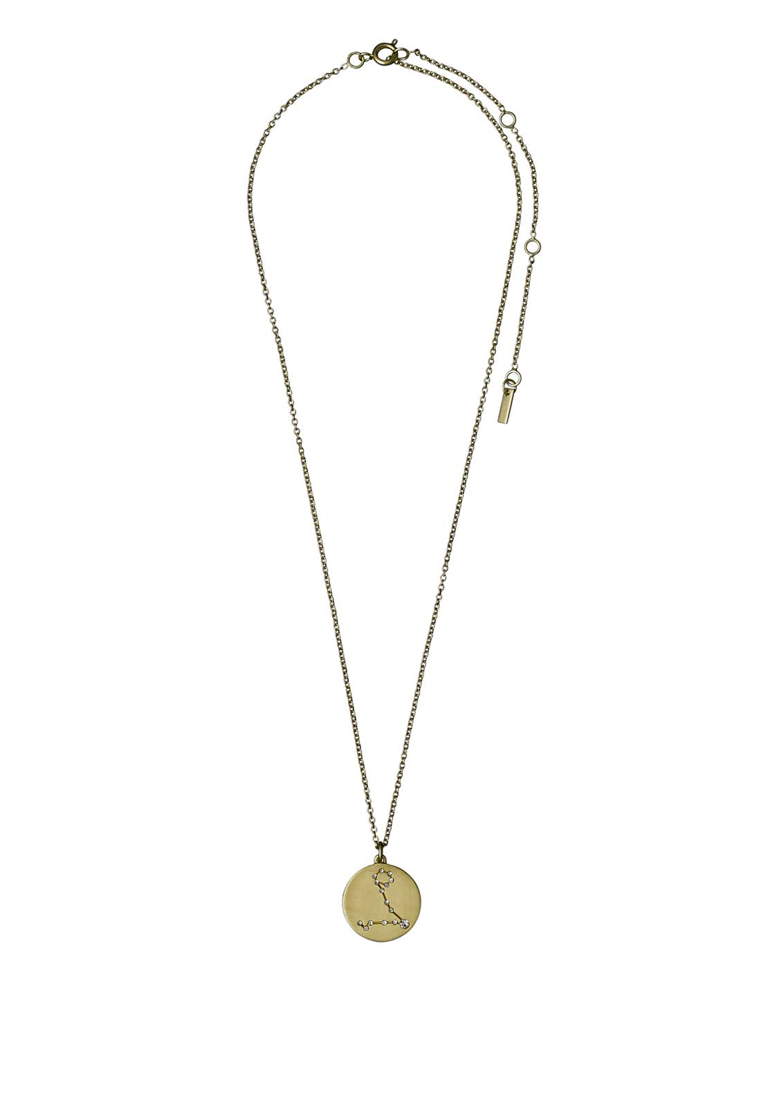 Pilgrim Pisces Zodiac Sign Necklace, Gold