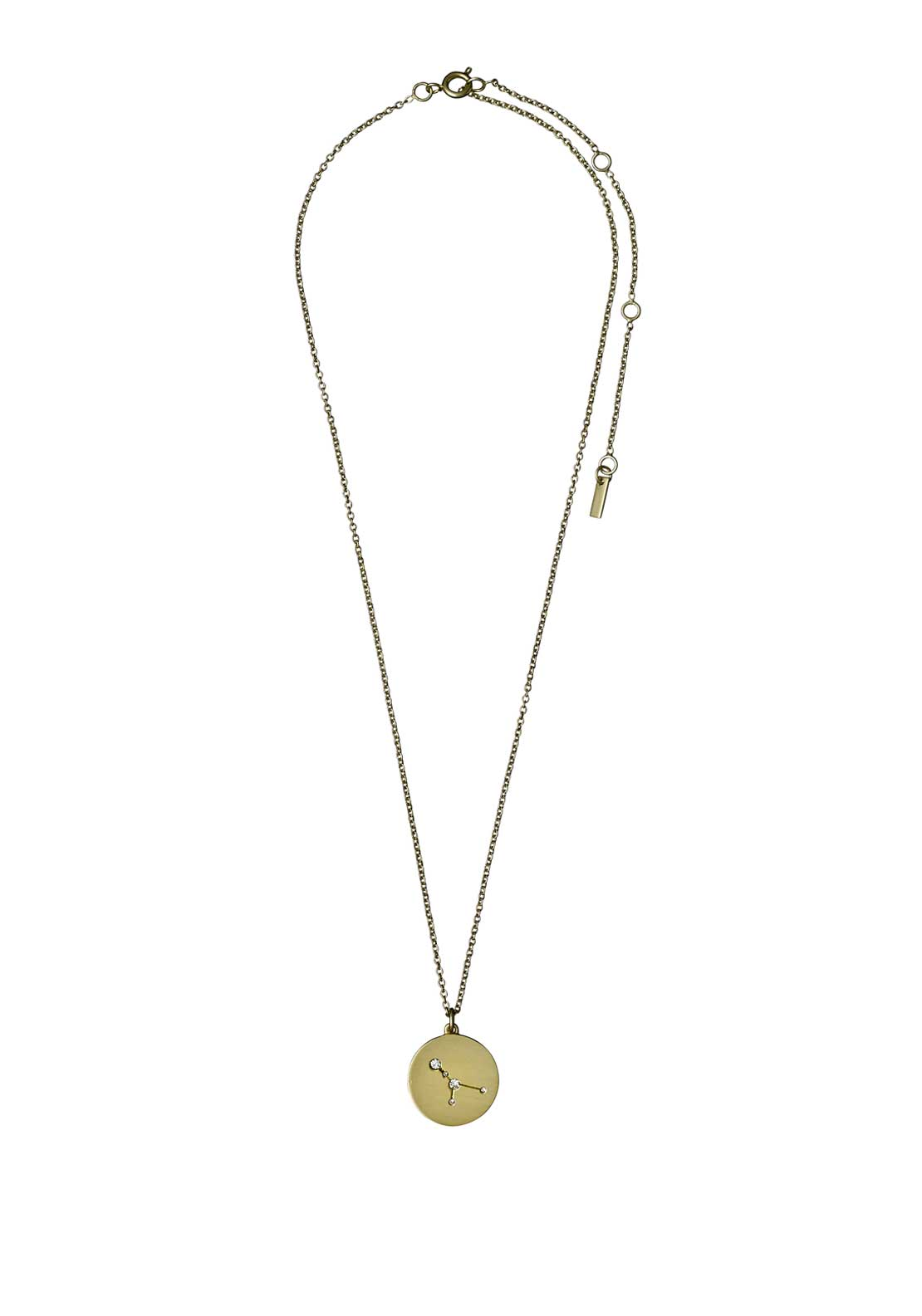 Pilgrim Cancer Zodiac Sign Necklace, Gold