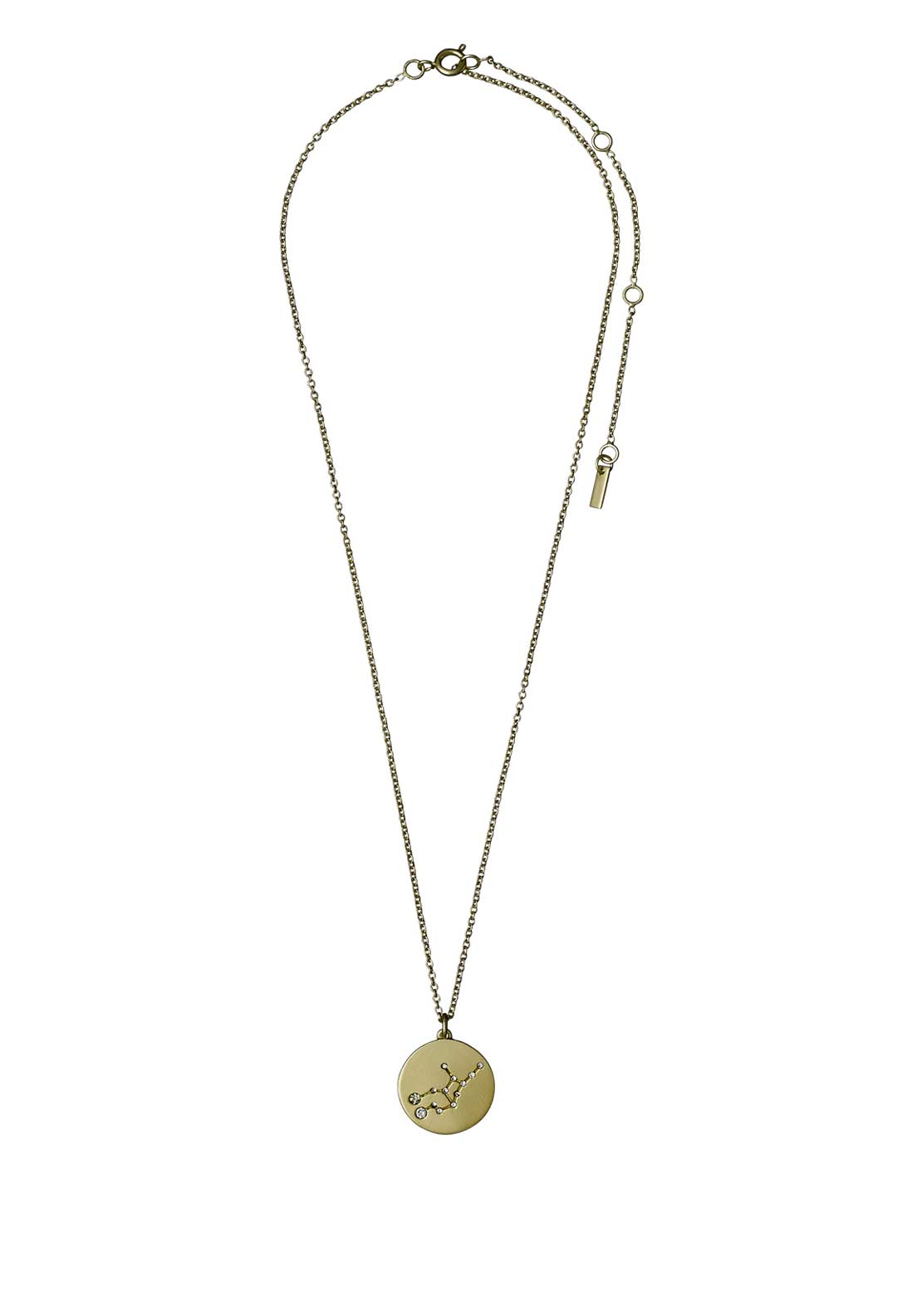 Pilgrim Virgo Zodiac Sign Necklace, Gold