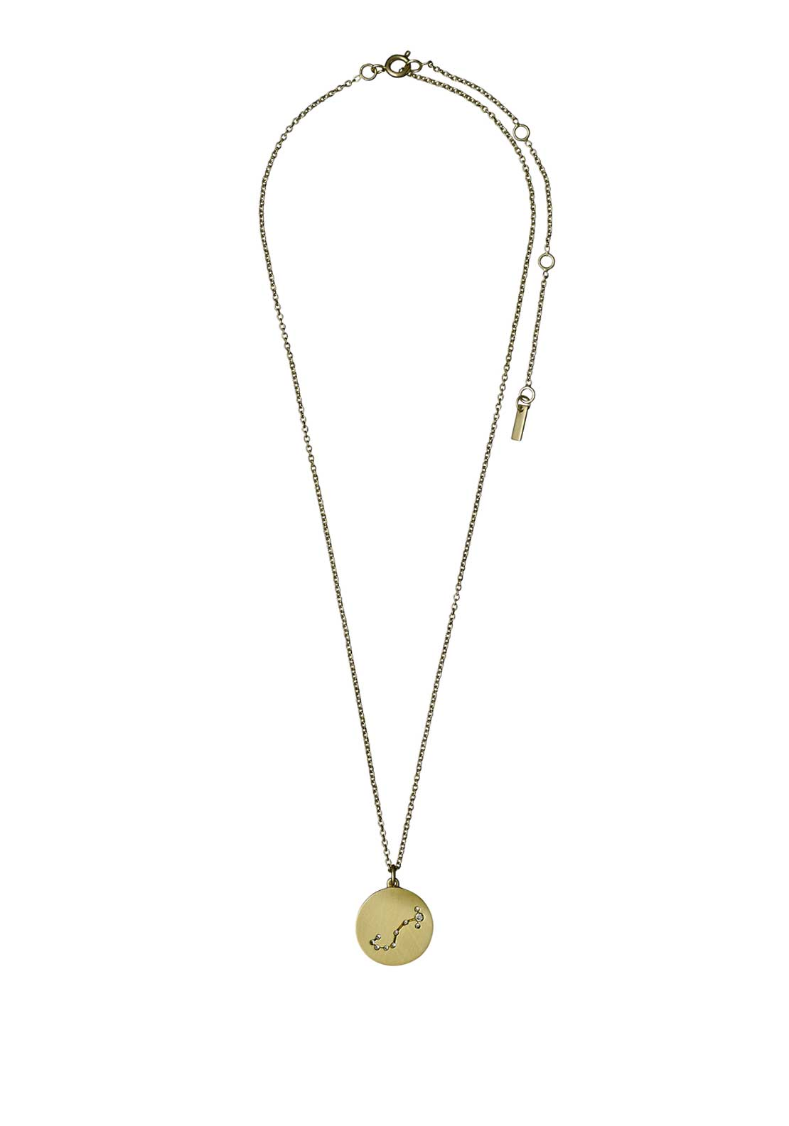 Pilgrim Scorpio Zodiac Sign Necklace, Gold