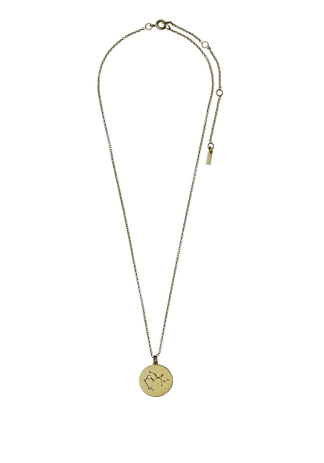Pilgrim Sagittarius Zodiac Sign Necklace, Gold