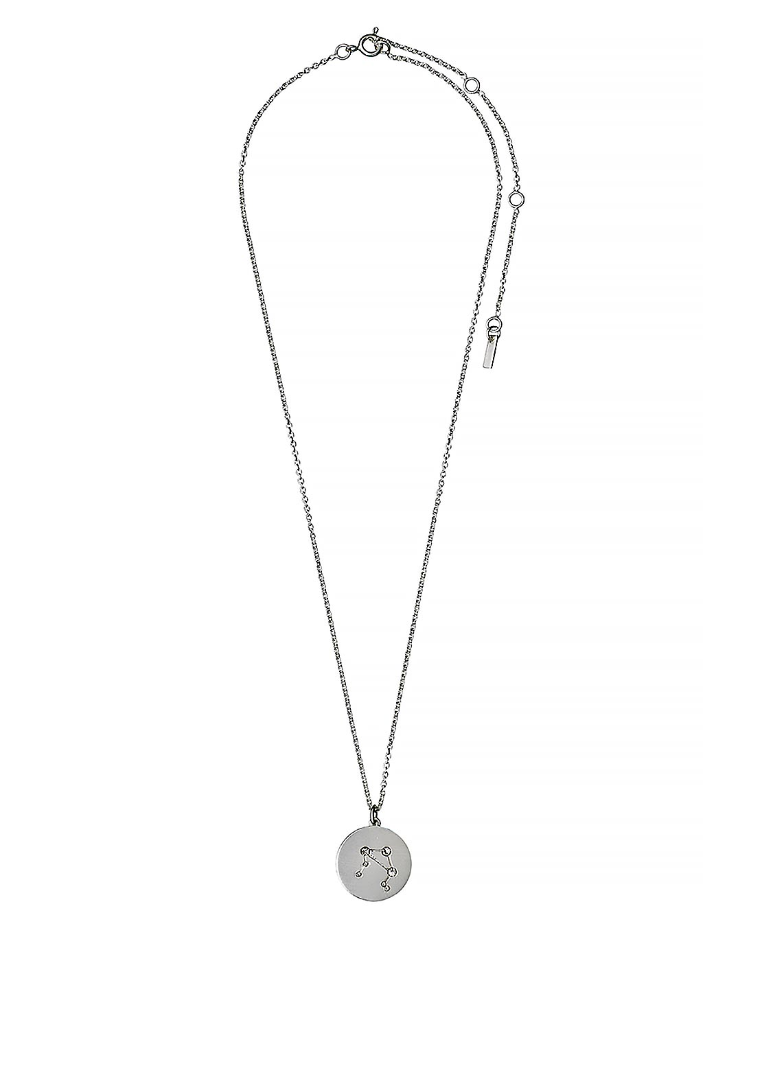 Pilgrim Libra Zodiac Sign Necklace, Silver