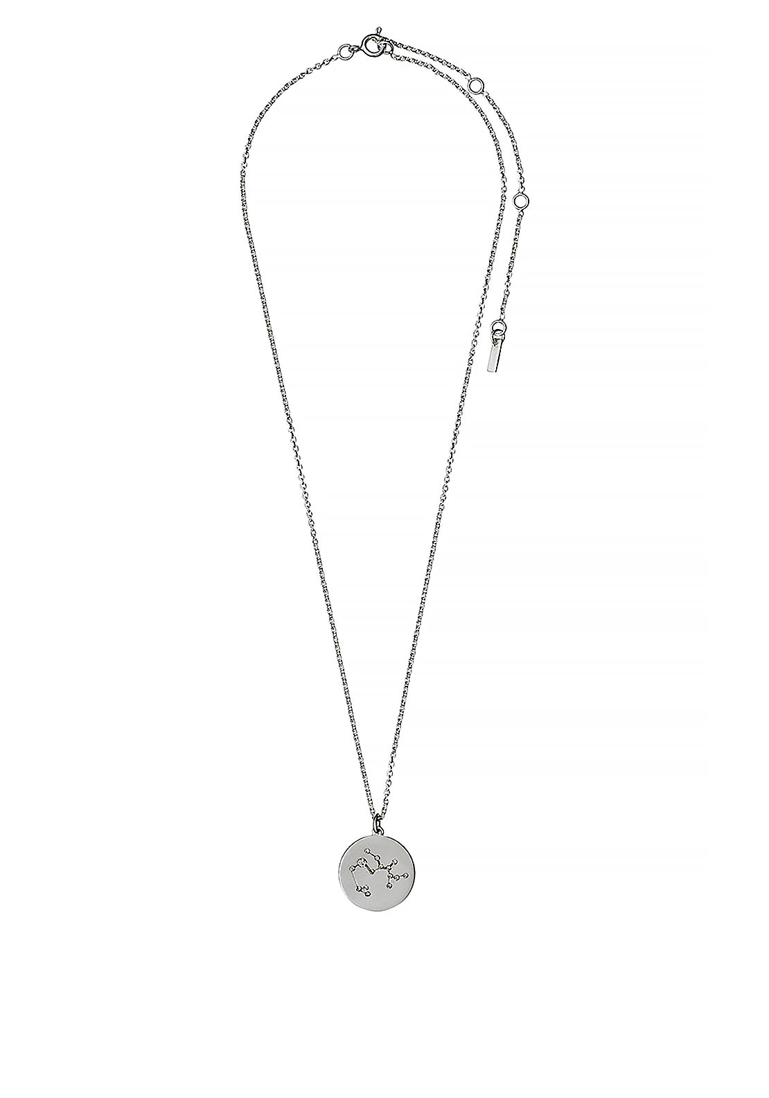 Pilgrim Sagittarius Zodiac Sign Necklace, Silver