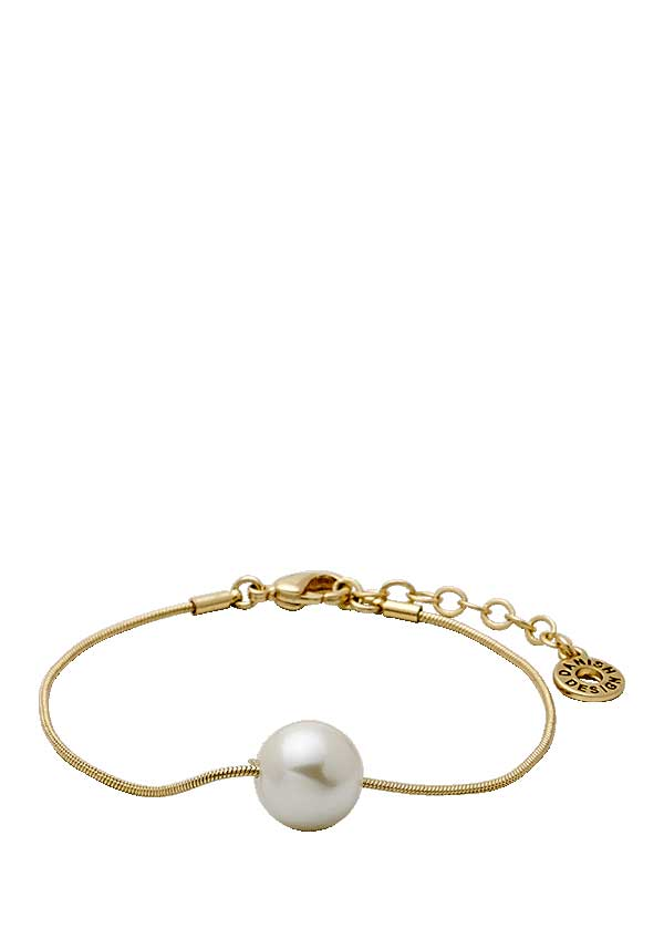 Pilgrim Womens Classic Bracelet with Pearl, Gold