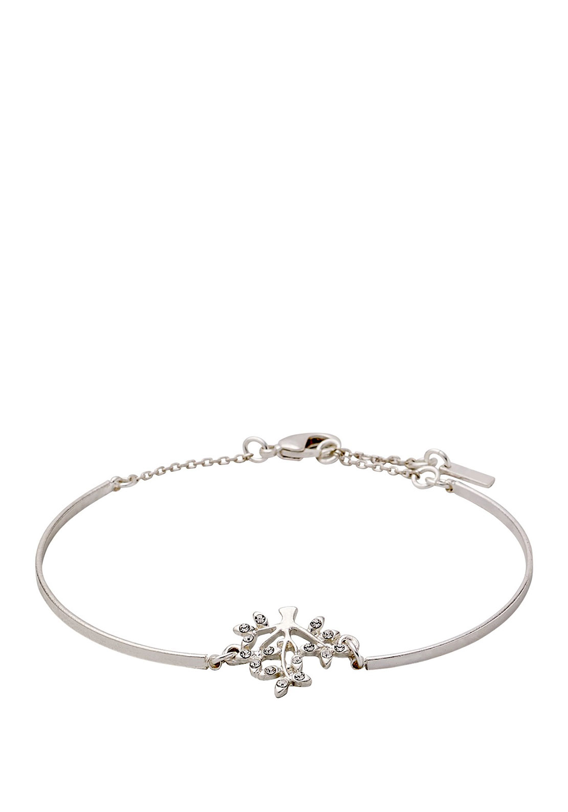 Pilgrim Crystal Tree Bracelet, Silver Plated