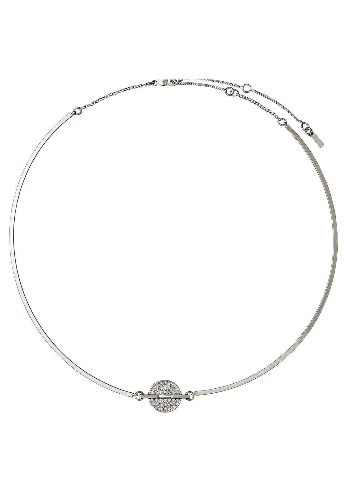 Pilgrim Circular Disk Necklace, Silver Plated