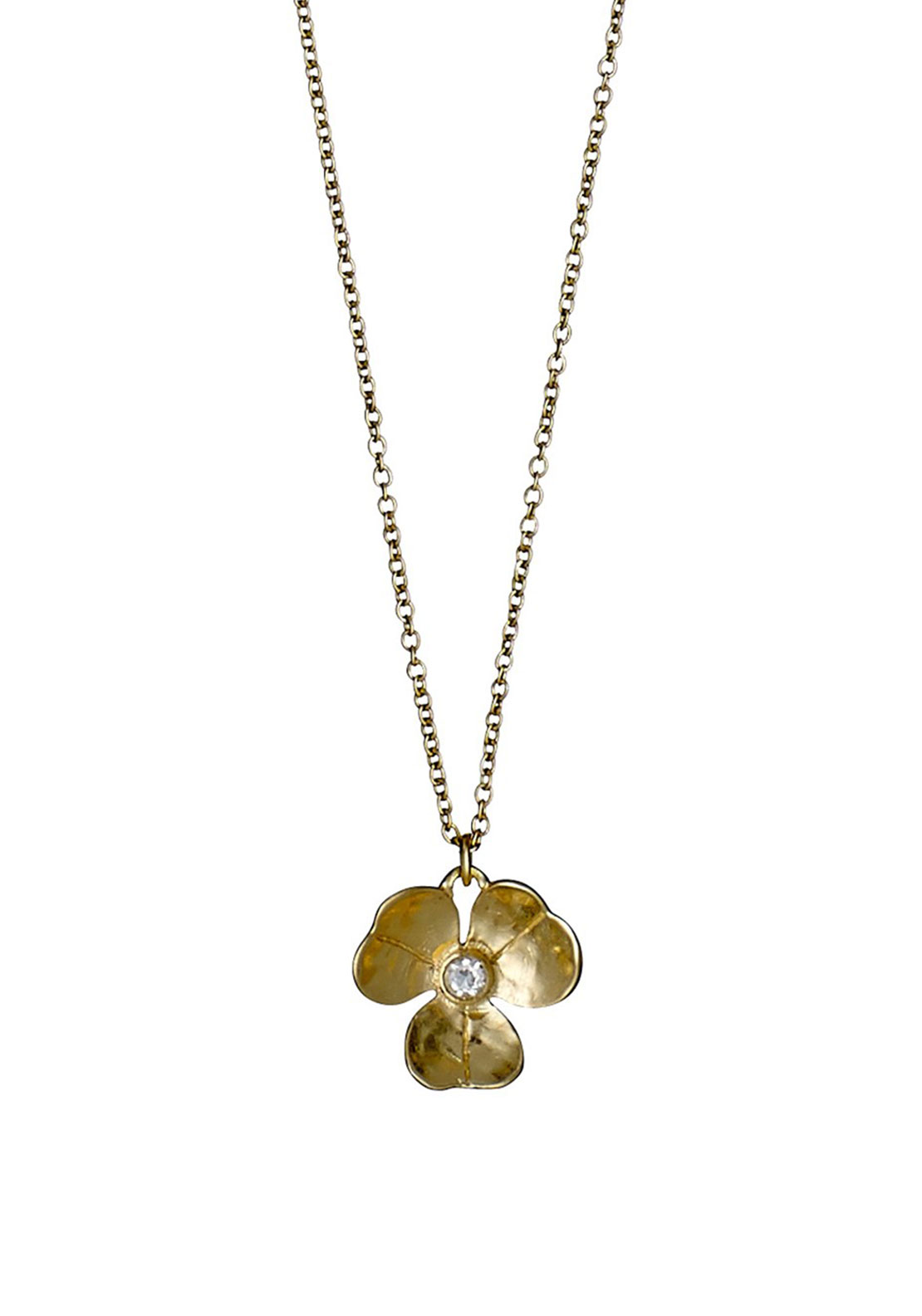 Pilgrim Flower Necklace, Gold Plated