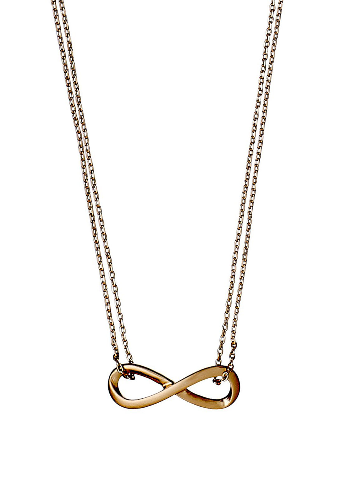 Pilgrim Infinity Necklace, Rose Gold Plated