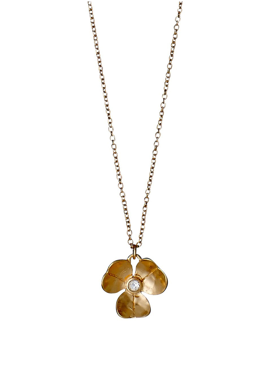 Pilgrim Crystal Flower Necklace, Rose-Gold Plated