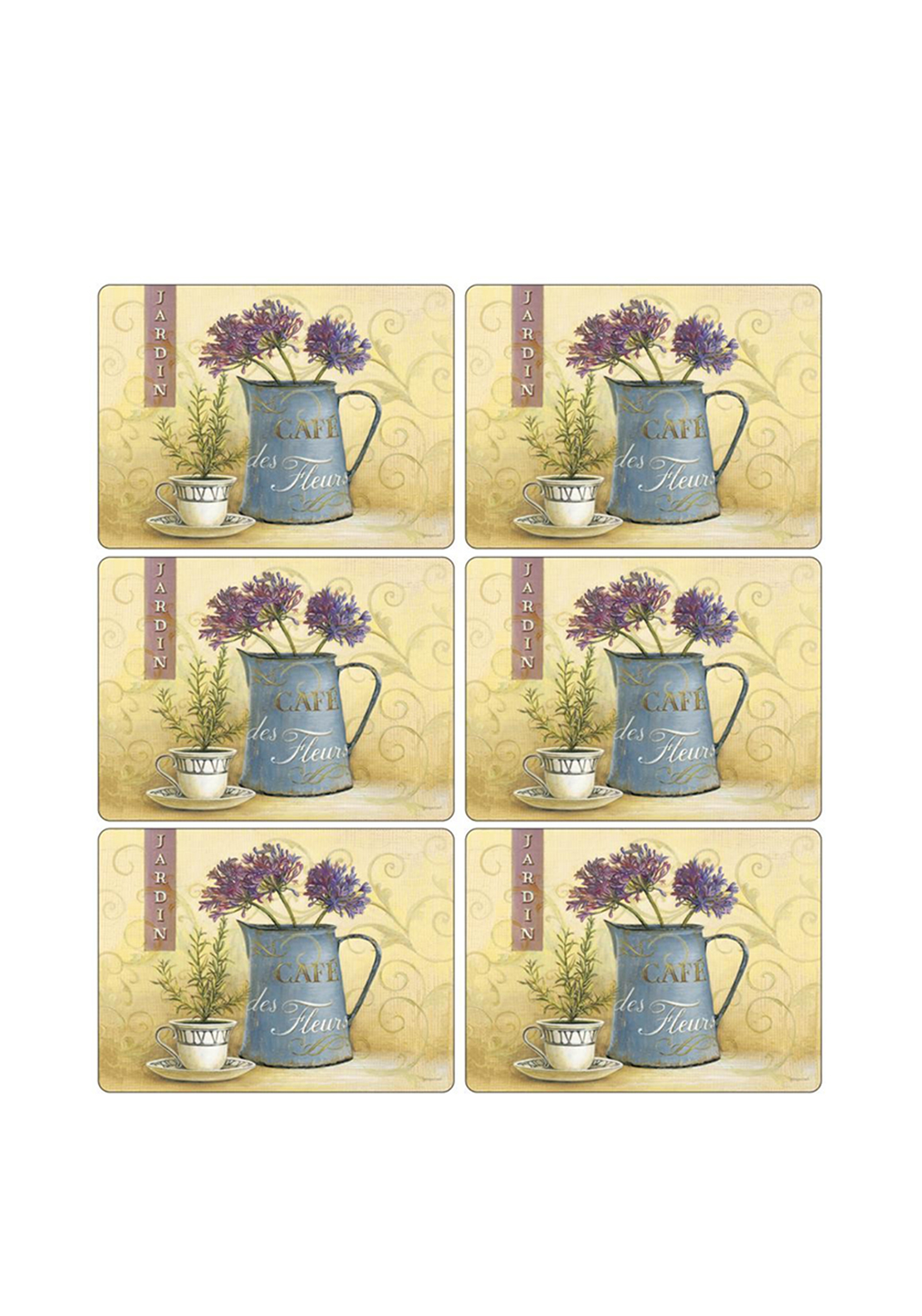Pimpernel Cafe de Fleurs Set of 6 Placemats