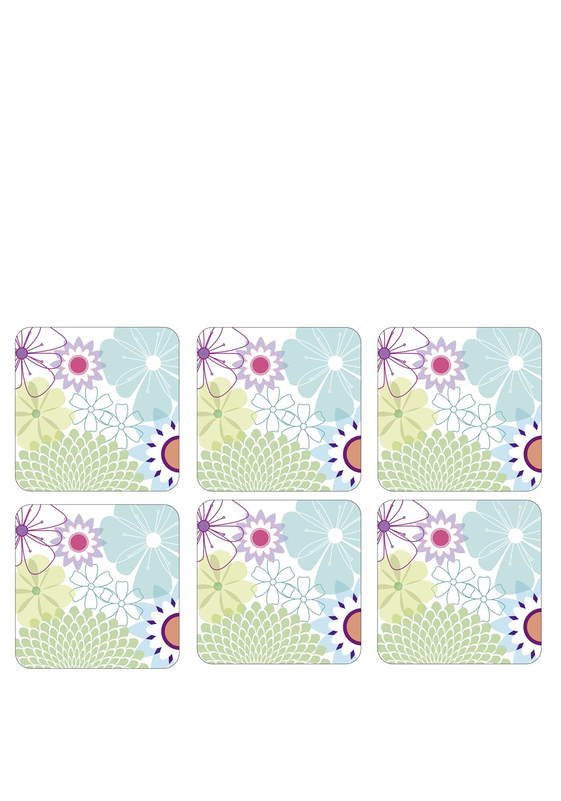 Portmerion Crazy Daisy Set of 6 Coasters