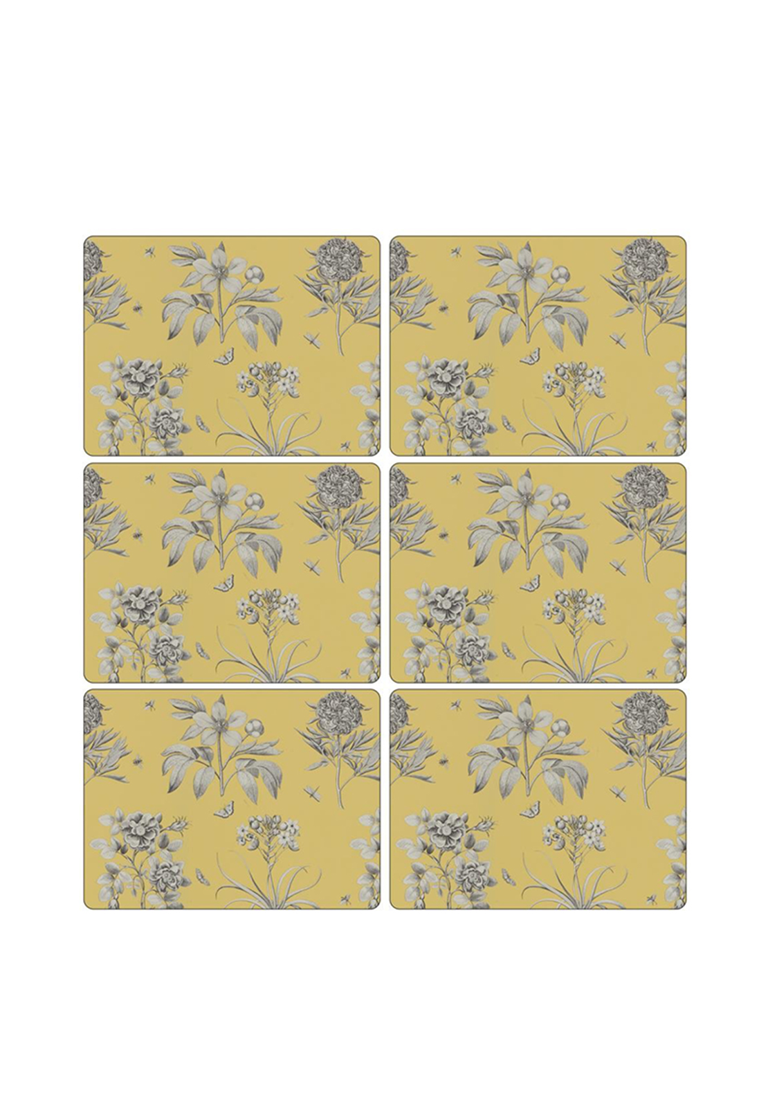 Pimpernel Etchings & Roses Set of 6 Placemats