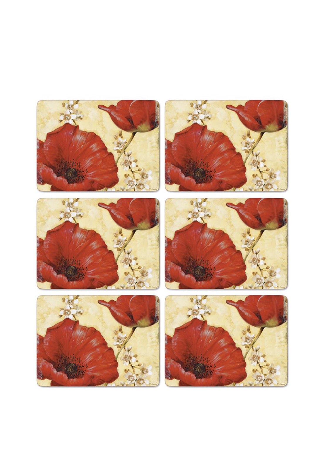 Pimpernel Poppy de Villeneuve Set of 6 Placemats