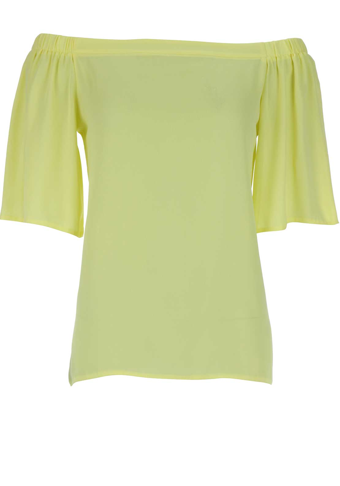 Boutique Off The Shoulder Top, Lemon