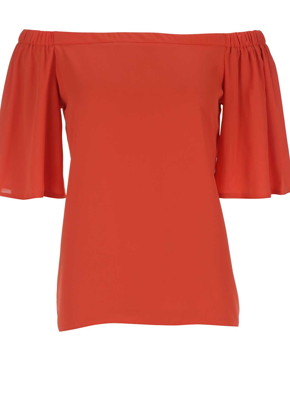 Boutique Off The Shoulder Top, Orange