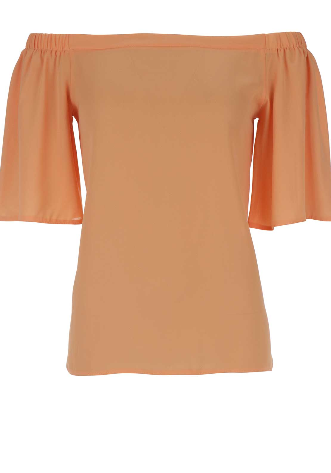 Boutique Off The Shoulder Top, Peach
