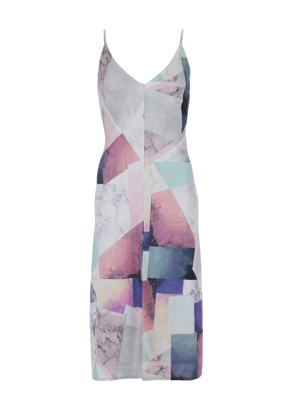 Boutique Print Strappy Midi Dress, Multi-Coloured