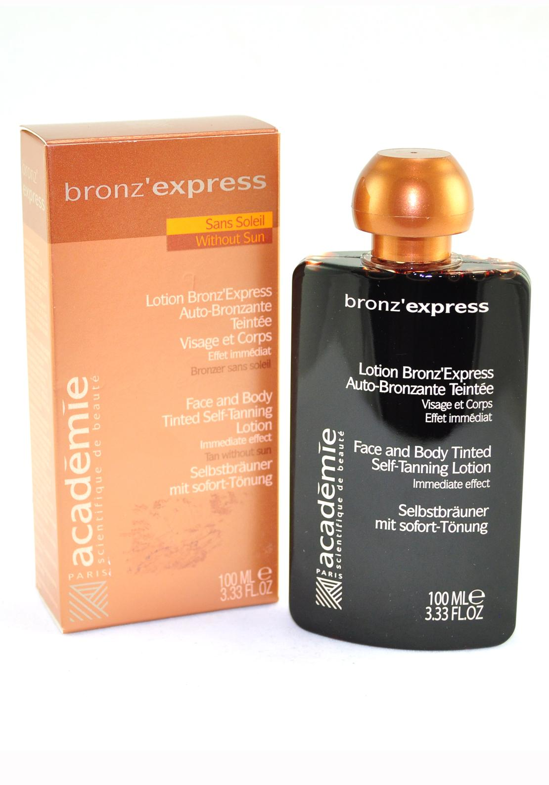 Bronz' Express Face and Body Tinted Self-Tanning Lotion, 100ml