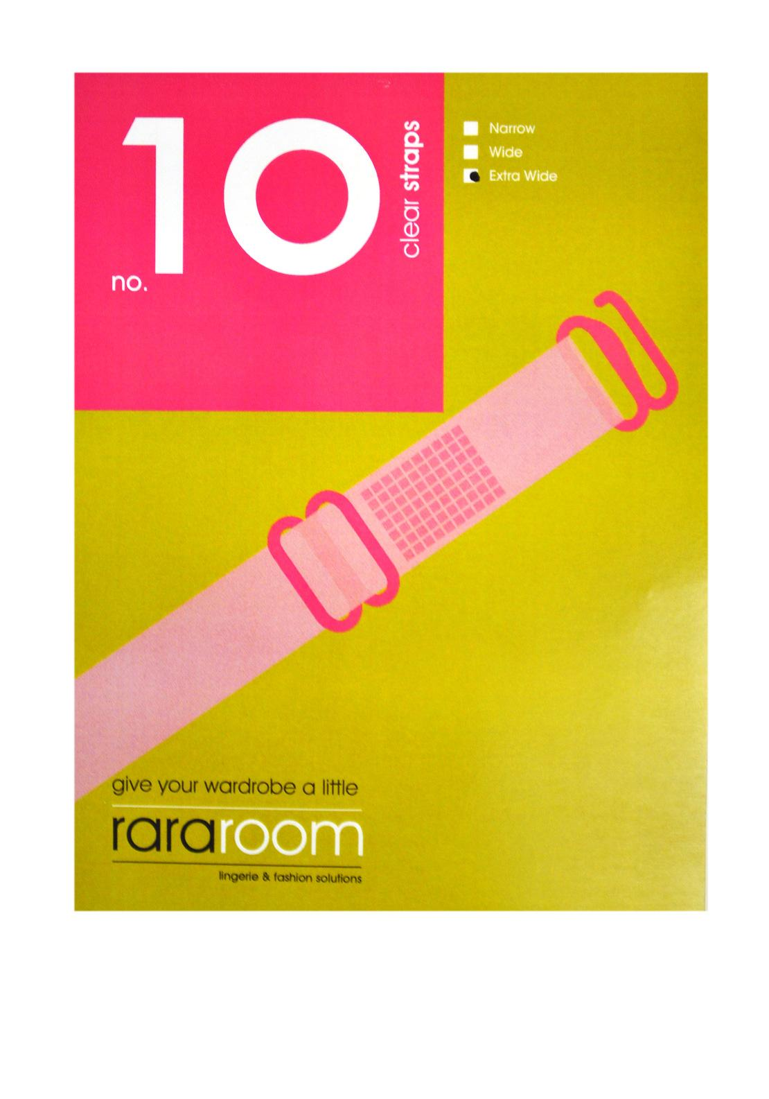 Rararoom No.10 Clear Straps, Extra Wide