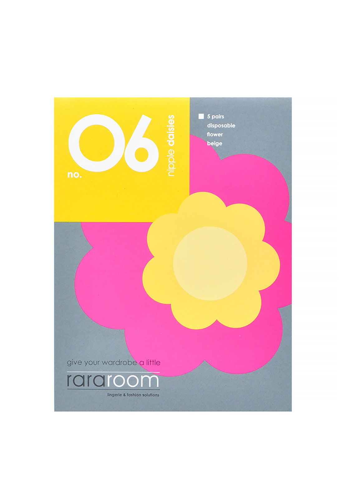 Rararoom No.06 Flower Nipple Covers, Nude
