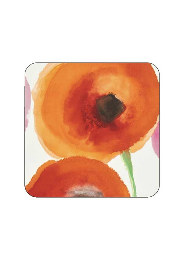 Sanderson for Pimpernel Poppies Coasters, set of 6