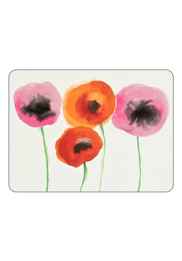 Sanderson for Pimpernel Poppies Placemats, set of 6