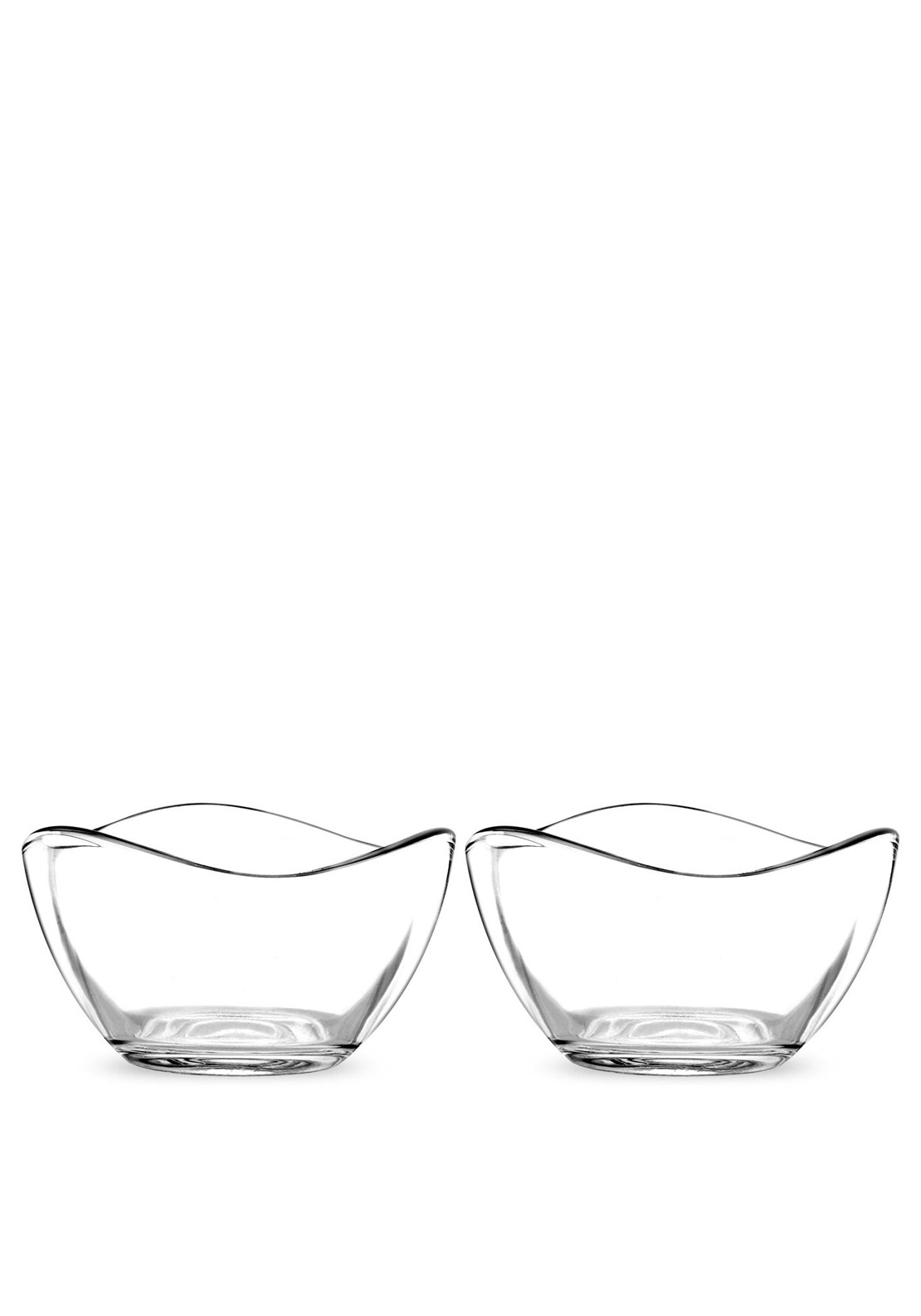 Portmeirion Set of Two Small Glass Bowls, Clear Glass