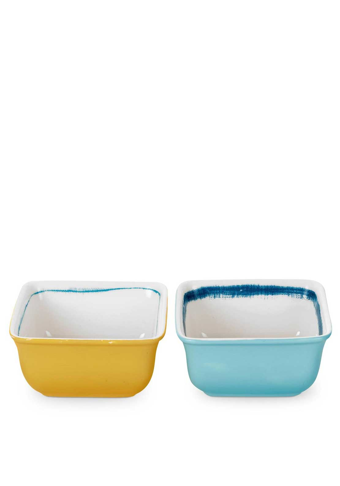 Portmeirion Coast Square Dip Bowls, Set of 2