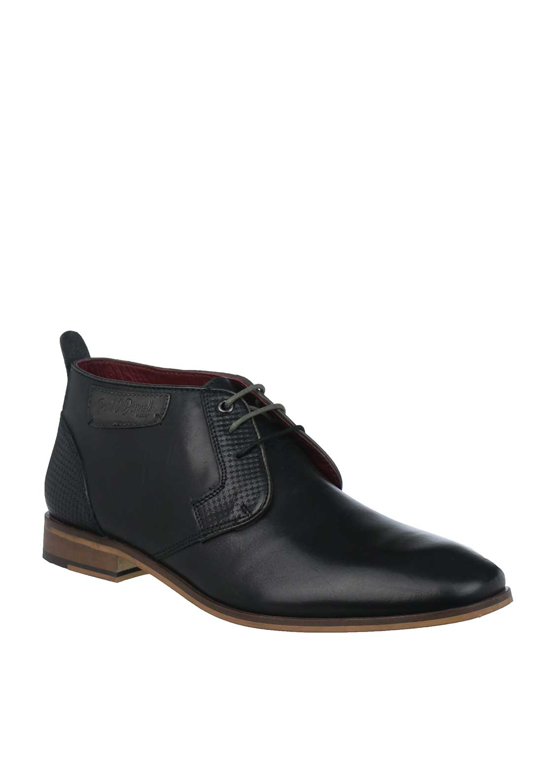 Paul O'Donnell by POD Fresno Leather Boots, Black