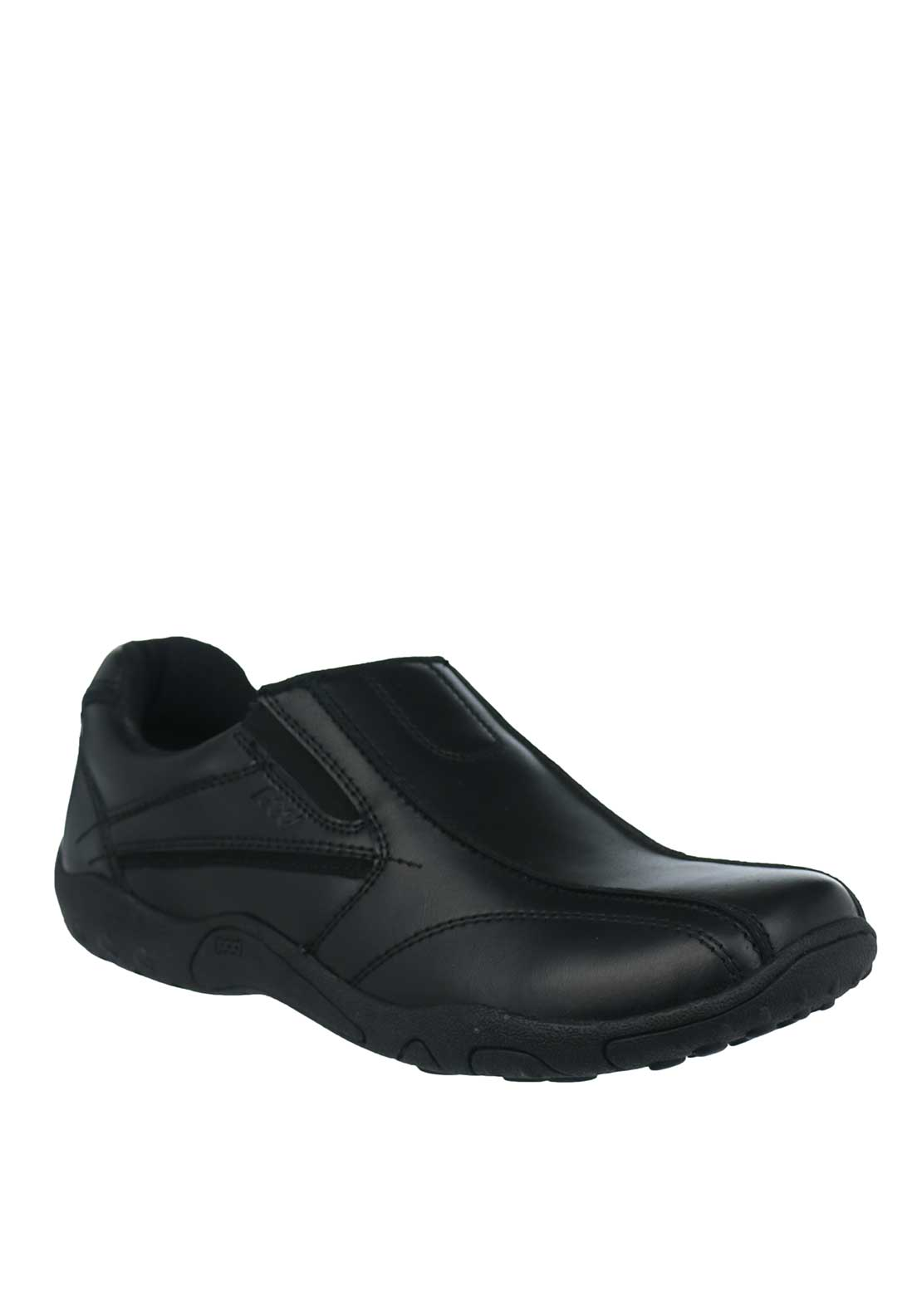Pod Terry Leather Loafer Shoes, Black