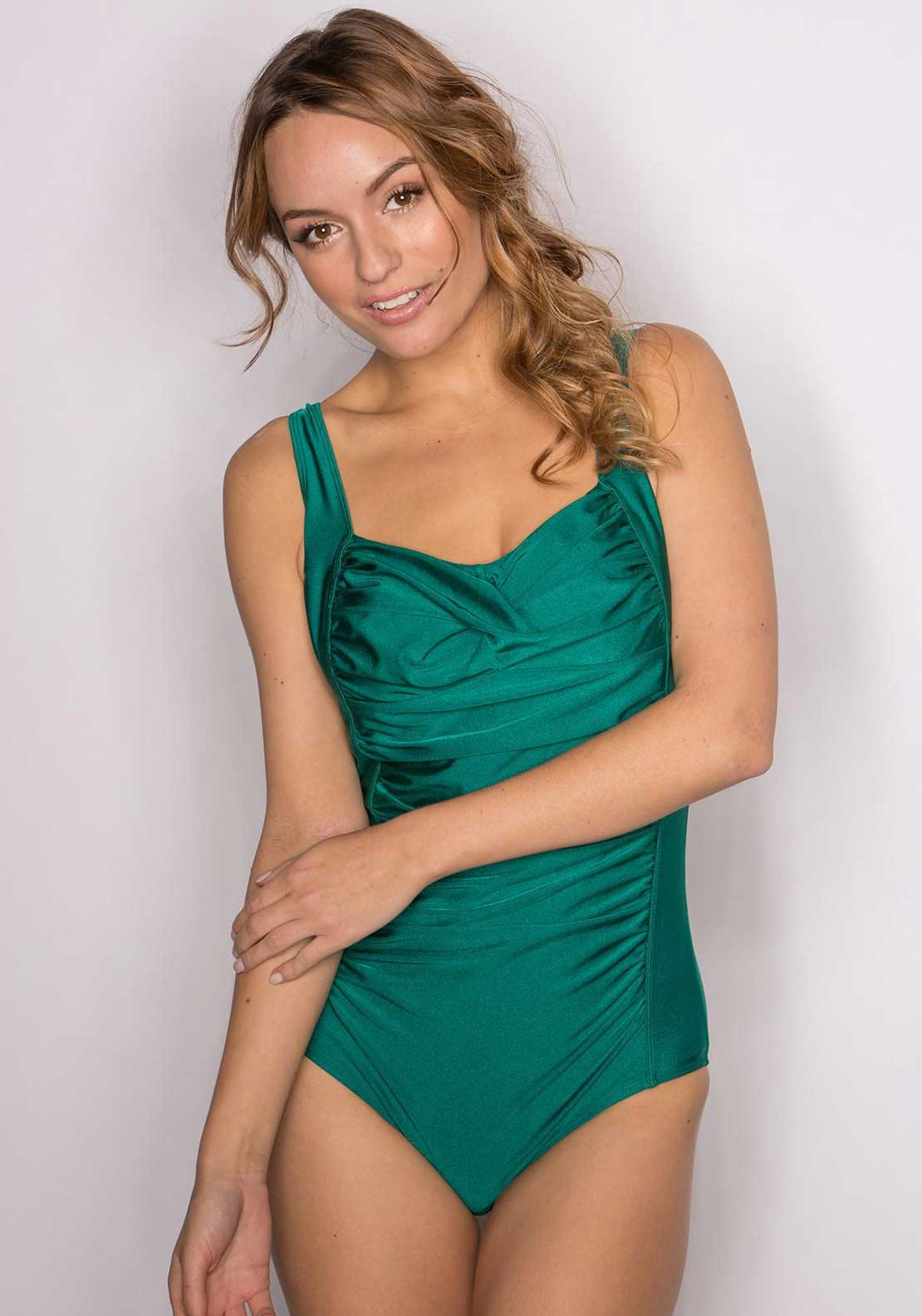 Pour Moi? Azure Control Swimsuit, Emerald Green