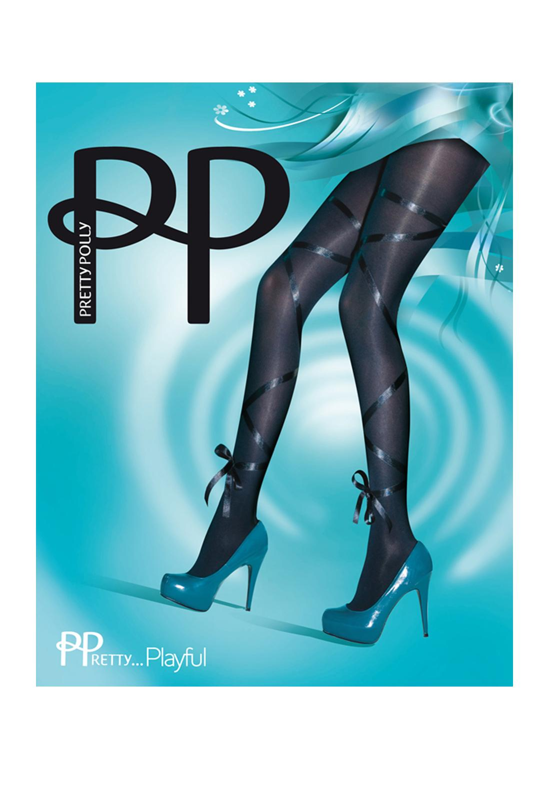 Pretty Polly Playful Ribbon Tights, One Size