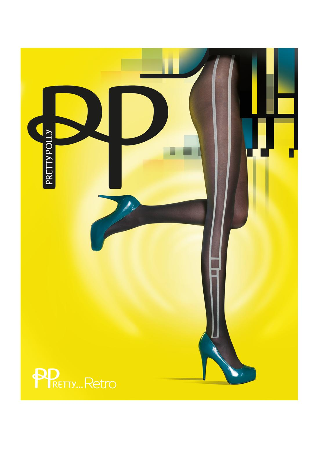Pretty Polly Retro Side Panel Tights, One Size