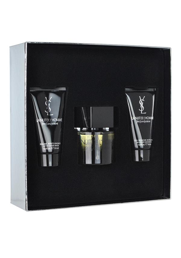 YVES SAINT LAURENT LA NUIT DE L'HOMME EAU DE TOILETTE GIFT SET FOR MEN, 60ML