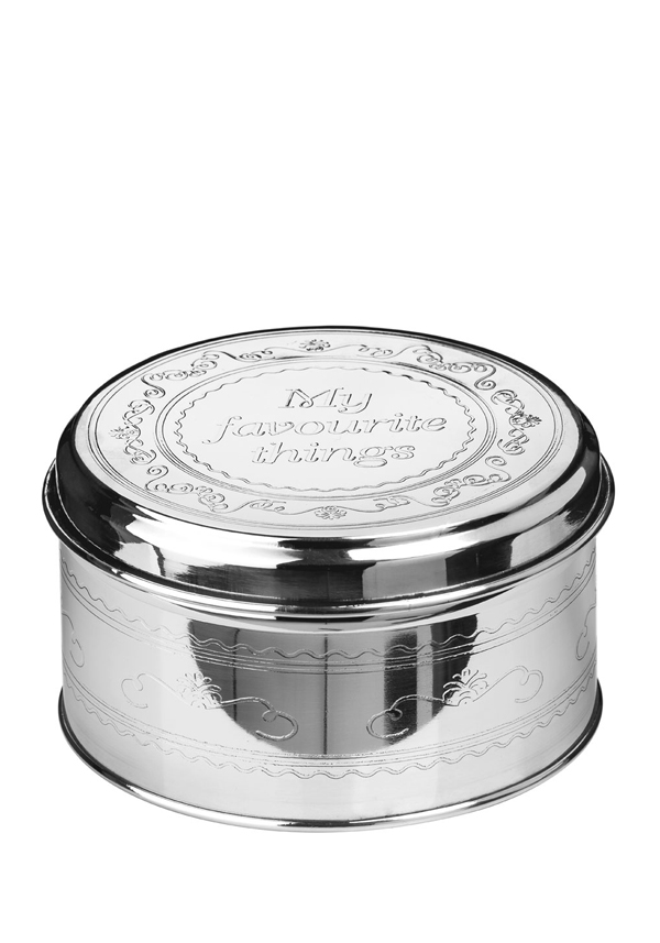 "Chai Stainless Steel ""My Favourite Things"" Storage Tin, 13x7cm"