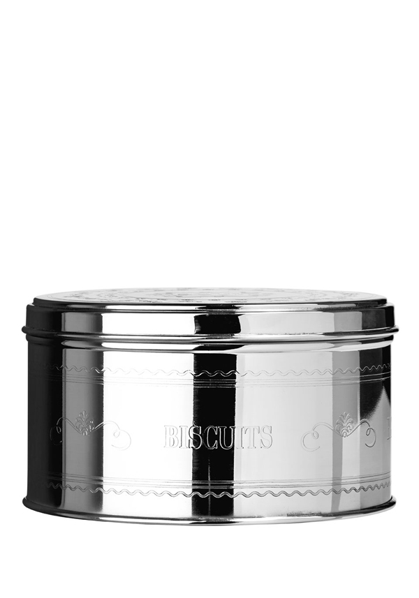 "Chai Stainless Steel ""Biscuits"" Storage Tin, 15x9cm"