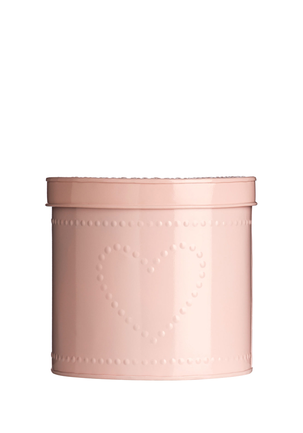 The Sweetheart Collection Dotty Heart Pink Storage Tin, 20x21cm